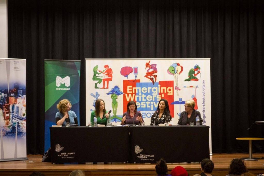 L-R: Emma Viskic, Ruth Clare, Lorna Hendry, Michelle Wright, Sally Abbott